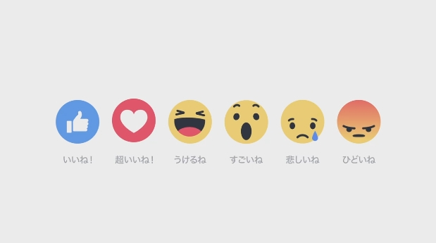 facebookリアクション