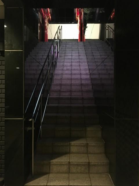 地上に上がる階段もちょっとした撮影スペースに使えそう!