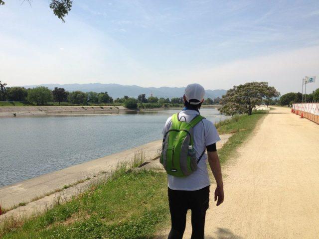 武庫川沿いに芦屋へ。
