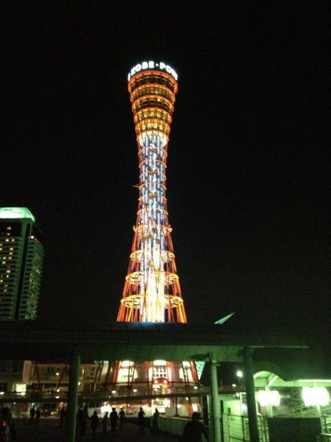 休まず歩いて神戸ポートタワーへ。
