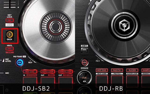 DDJ-SB2は4deck対応。DDJ-RBは2deckまで。