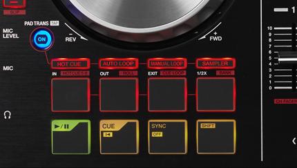 DDJ-SB2はボタンを押して機能を切り替える。面倒。