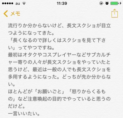 長文スクショの例